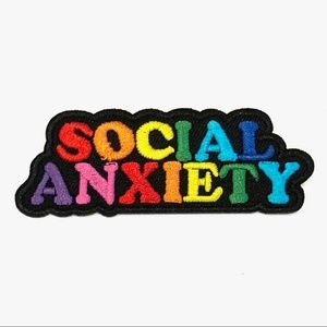 patch iron on social anxiety expression funny DIY